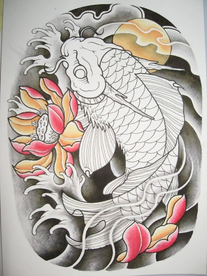 Dragon fish tattoos for Japanese koi dragon