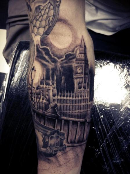 32 incredible big ben tattoos. Black Bedroom Furniture Sets. Home Design Ideas