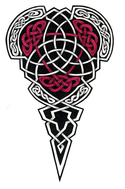 red and black celtic tattoo design. Black Bedroom Furniture Sets. Home Design Ideas