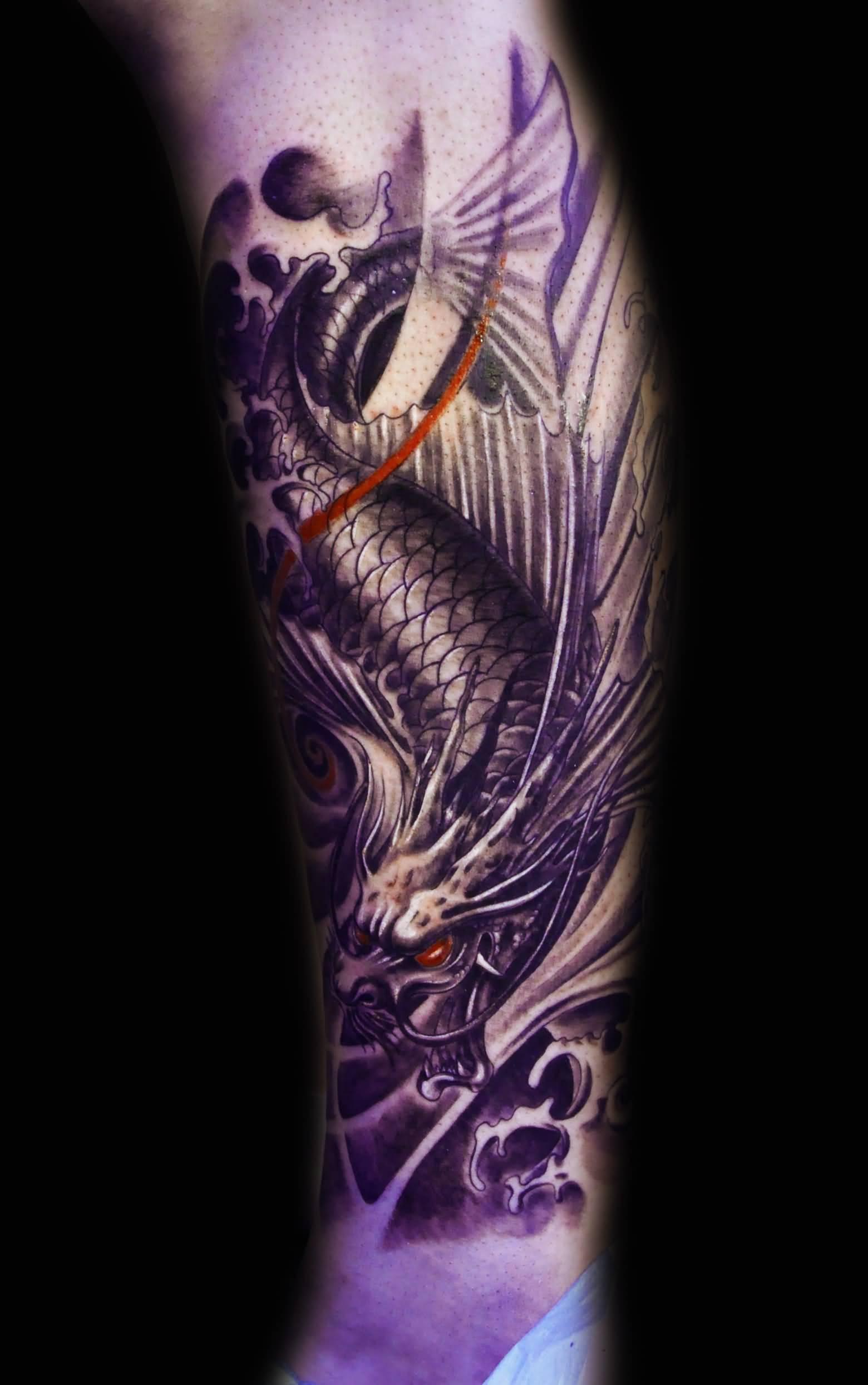 32 amazing dragon fish tattoos