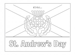 st andrews day coloring page picture