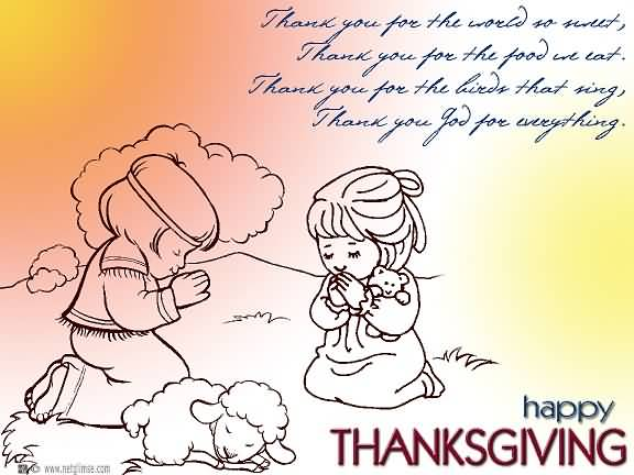 Thank You God For Everything Happy Thanksgiving Prayer Picture
