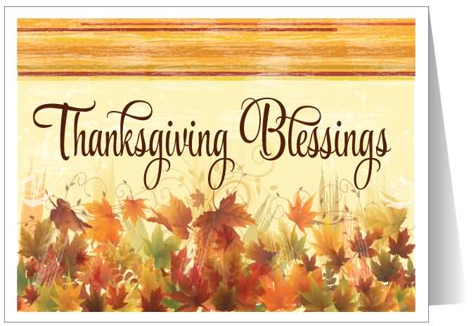 Thanksgiving Blessings Autumn Leaves Greeting Card 55 most beautiful thanksgiving day greeting card pictures