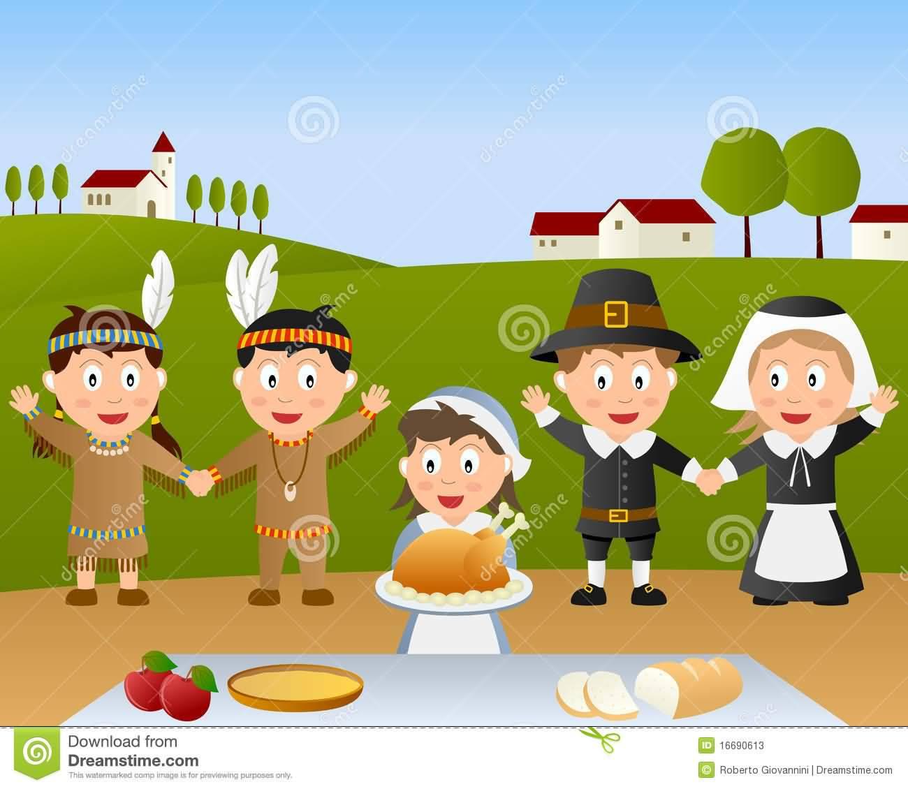 Thanksgiving Day Celebration Enjoy Food Illustration