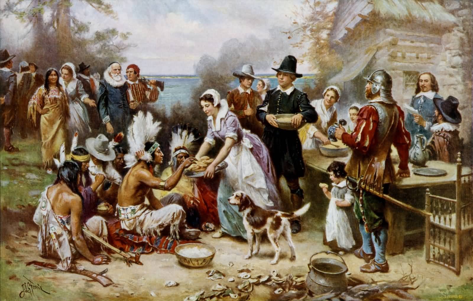 Thanksgiving Day Celebration Painting