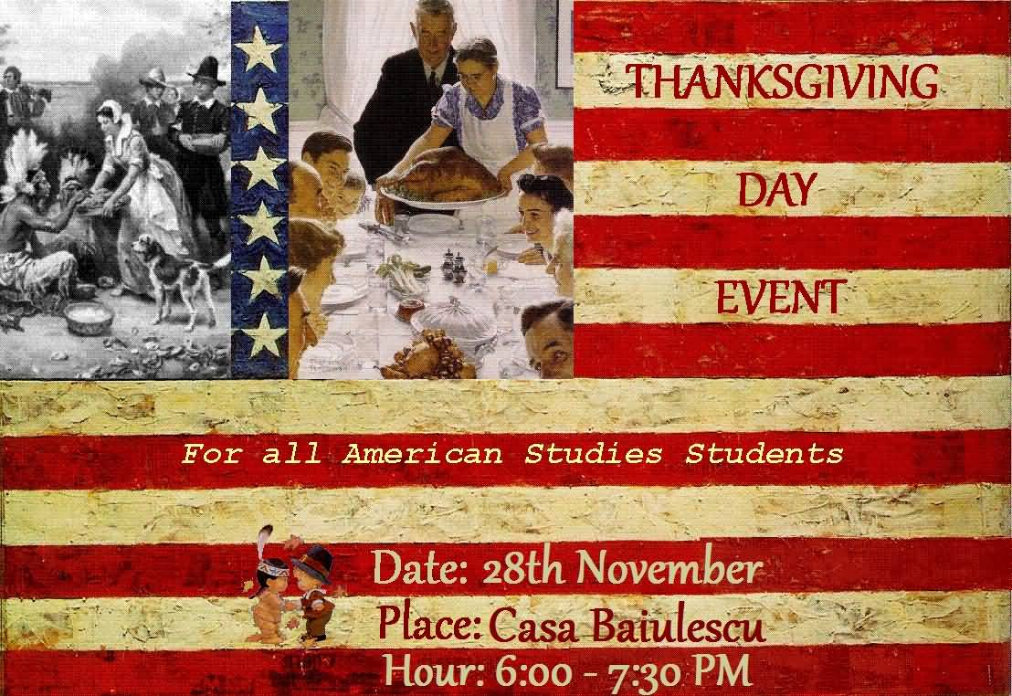 Thanksgiving Day Event For All American Studies Students