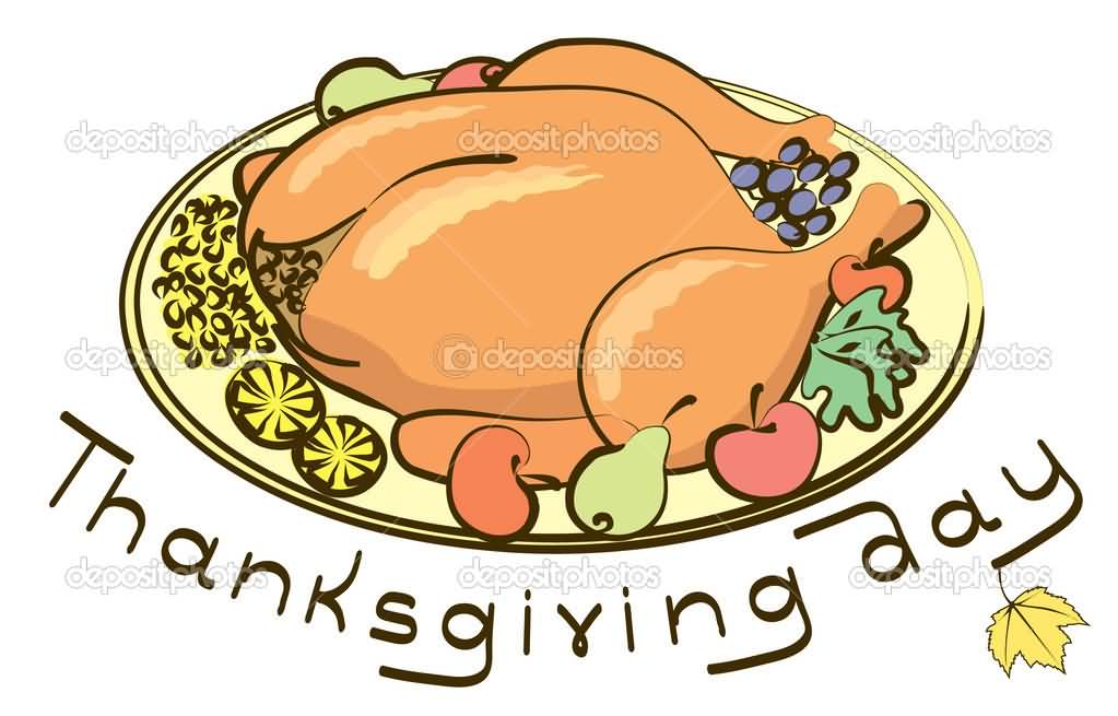 Thanksgiving Day Food Clipart Image