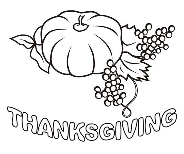 Thanksgiving wishes coloring page picture
