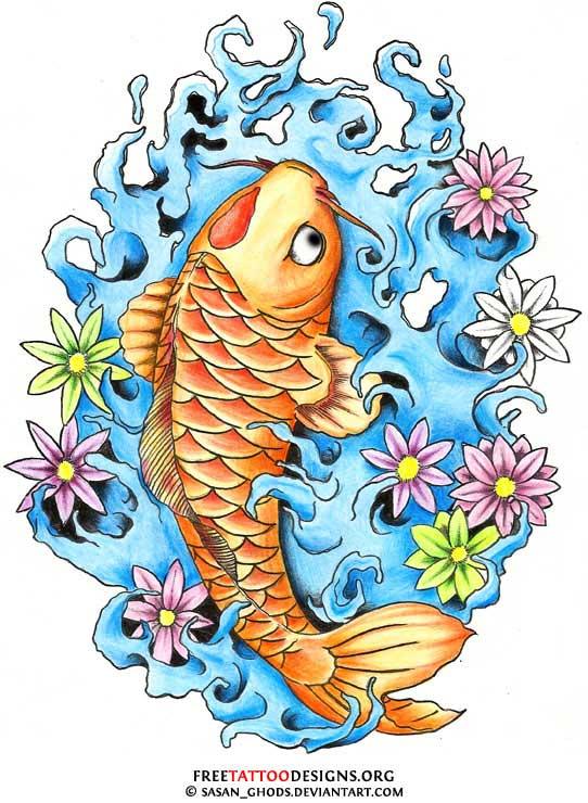 24 latest dragon fish tattoo designs. Black Bedroom Furniture Sets. Home Design Ideas