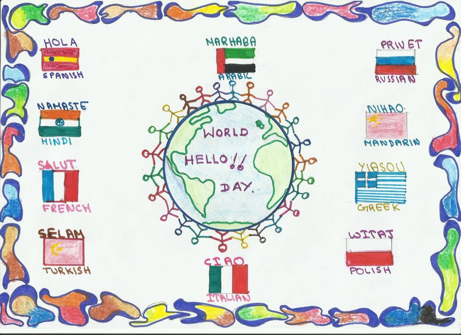World Hello Day Celebrating Worldwide Picture