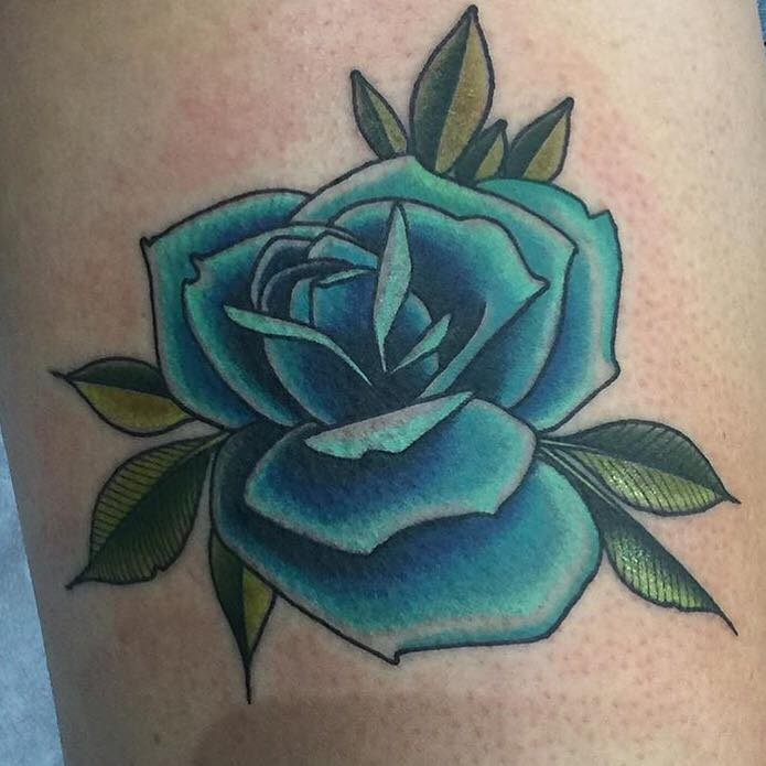 0638a3ea3 Awesome Blue Rose Tattoo by Jason Tritten