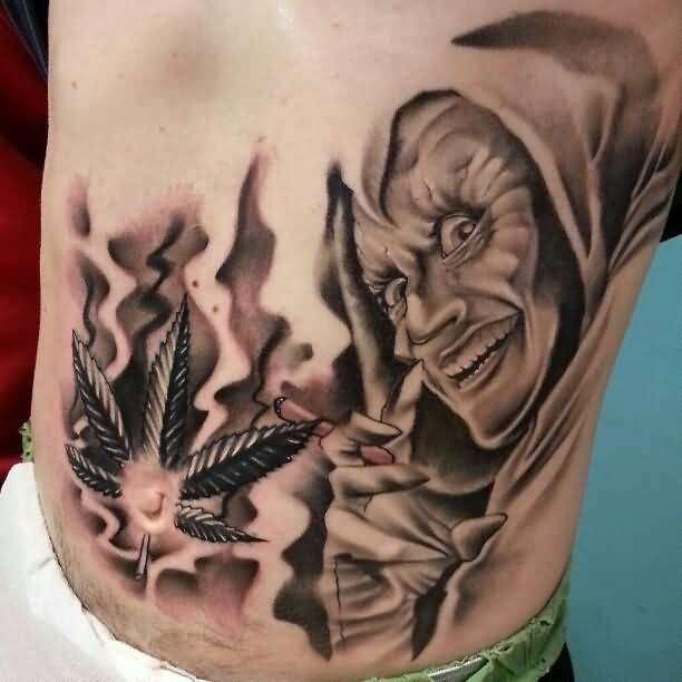 Goblin tattoos for Best weed tattoo designs