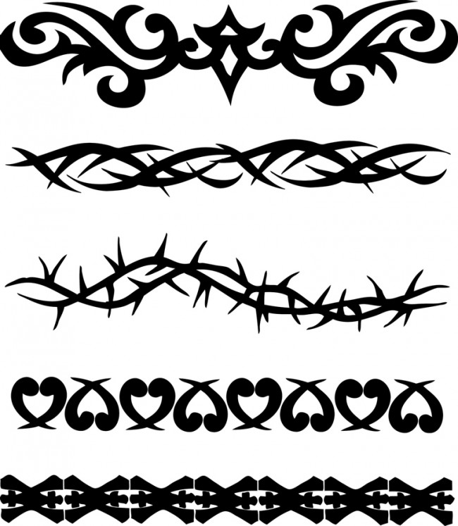 Black tribal armband tattoo design urmus Choice Image