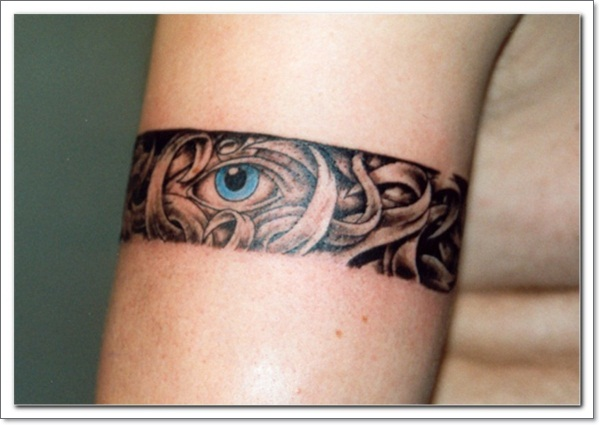 Blue eye in armband tattoo on right bicep urmus Image collections