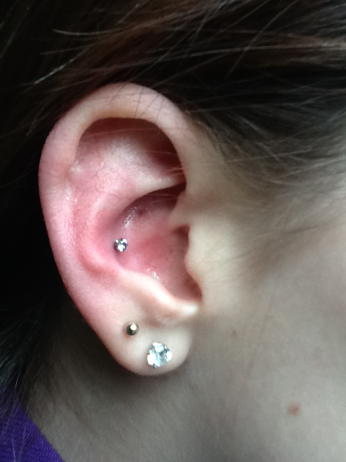 Dual Lobe And Inner Conch Piercing Picture