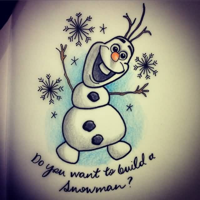 frozen olaf tattoo images galleries with a bite. Black Bedroom Furniture Sets. Home Design Ideas