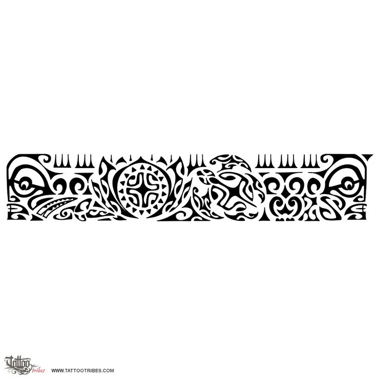 hawaiian armband tattoo design