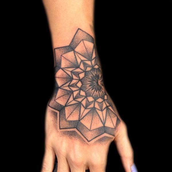 Left Hand Mandala Tattoo