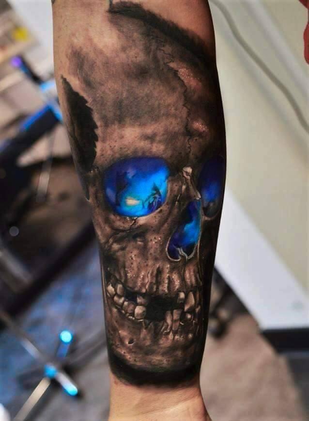 4  latest scary skull tattoos ideas