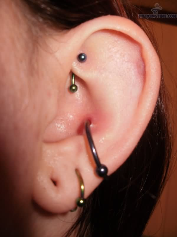 Upper Helix And Inner Conch Piercing