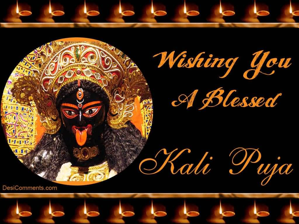 40 latest kali puja greeting pictures and images wishing you a blessed kali puja greeting card stopboris Image collections