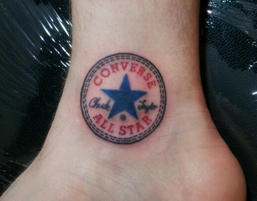 6b9396ca3bfd All Star converse Shoes Tattoo On Ankle