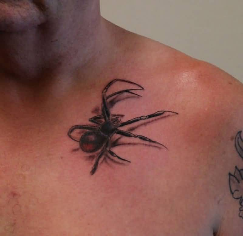 Arachnids Tattoo On Front Shoulder For Men