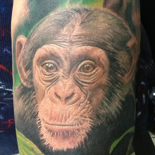 45 Amazing Chimpanzee Tattoos