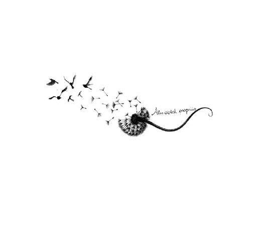 Dandelion Bird Tattoo: 21+ Awesome Dandelion Tattoo Designs