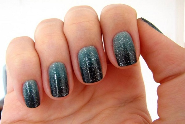 51 Beautiful Black Ombre Nail Art Design Pictures