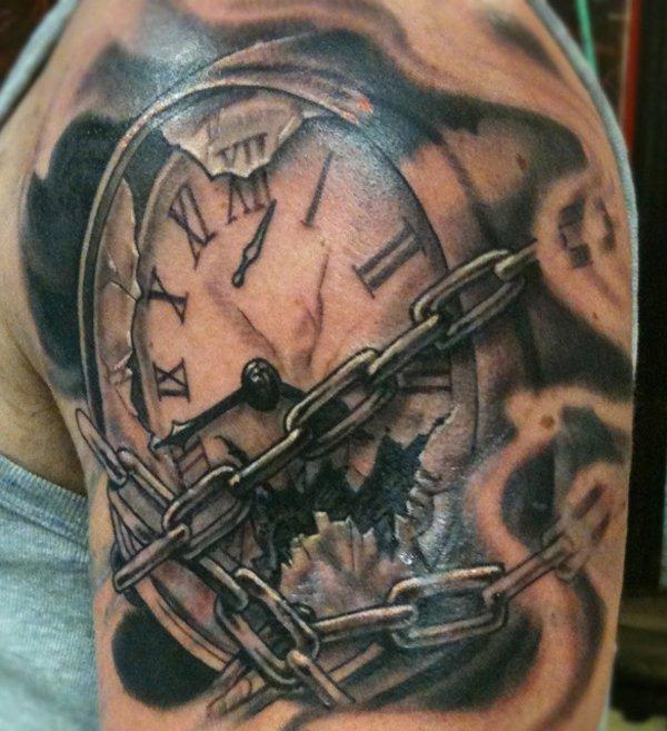 Tattoo Designs Clock: 34+ Incredible Broken Clock Tattoos