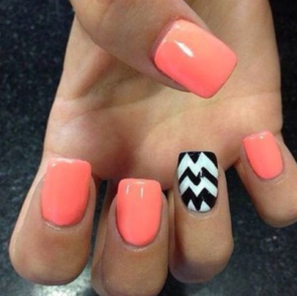 50+ Most Beautiful Accent Nail Art Design Ideas For Girls