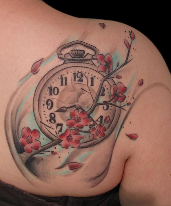 Simple Rose Tattoos On Back Shoulder