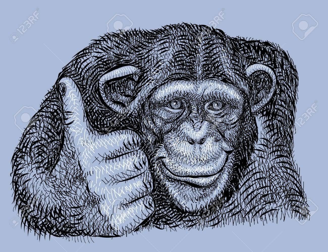 9 Chimpanzee Tattoo Designs