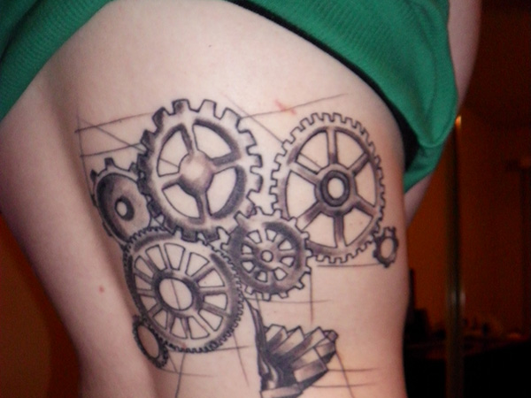 22 Clock Gear Tattoos Ideas