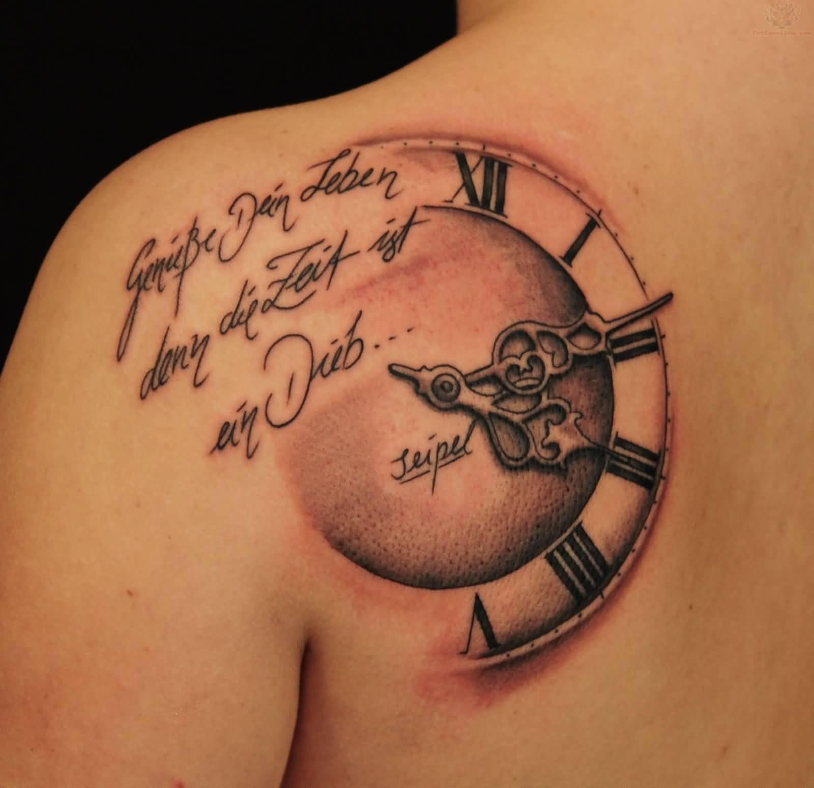 40 best clock tattoos ideas. Black Bedroom Furniture Sets. Home Design Ideas