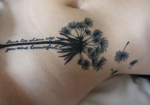 Dandelion Tattoo On Hip