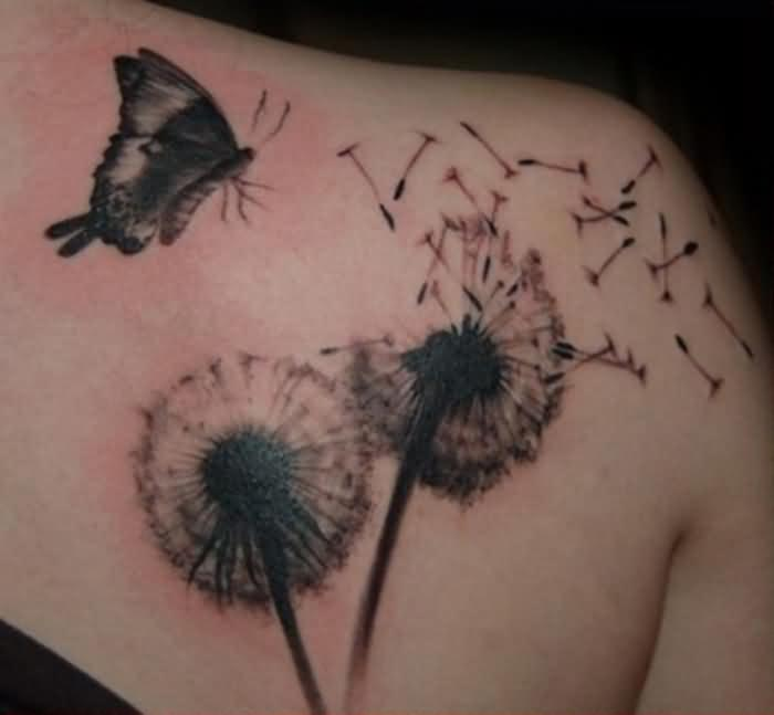 21 awesome dandelion tattoo designs. Black Bedroom Furniture Sets. Home Design Ideas