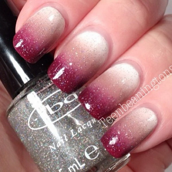 Glitter Ombre Nail Art Design - 50 Most Beautiful Ombre Nail Art Design Ideas For Girls