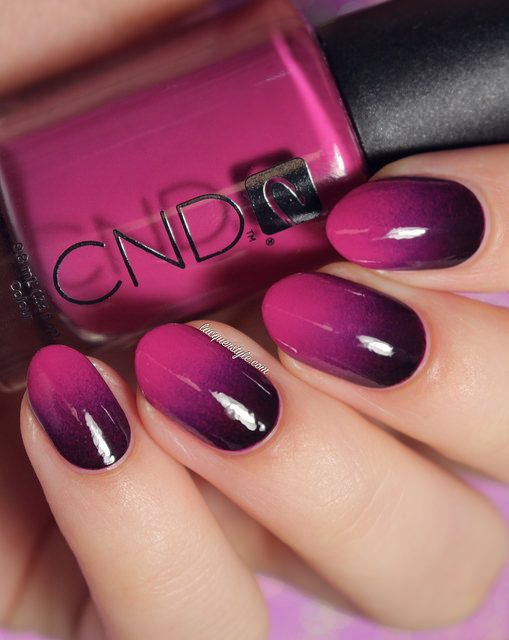 Glossy Ombre Nail Art Design Picture
