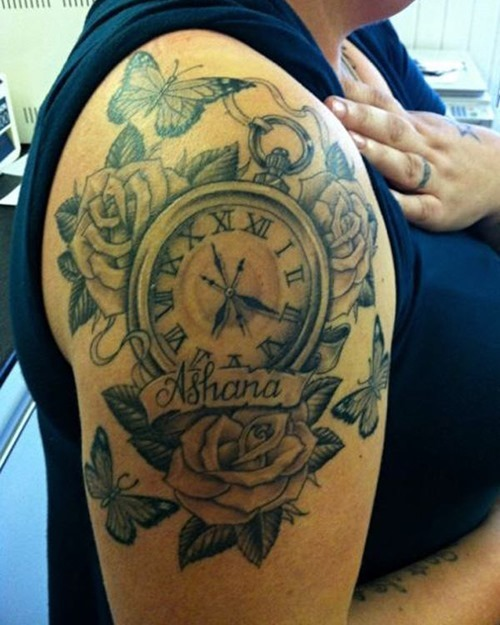 32+ Beautiful Clock Tattoos For Girls