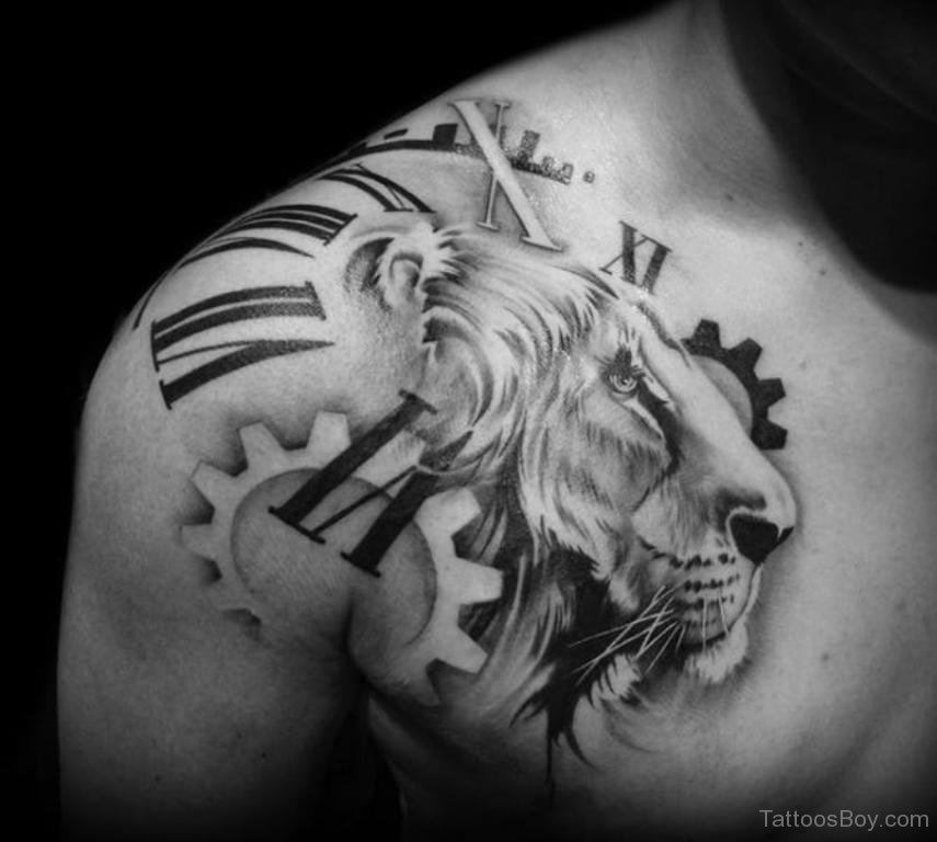 Amazing Leo Shoulder Tattoo For Men: 12+ Amazing Clock Tattoos On Shoulder