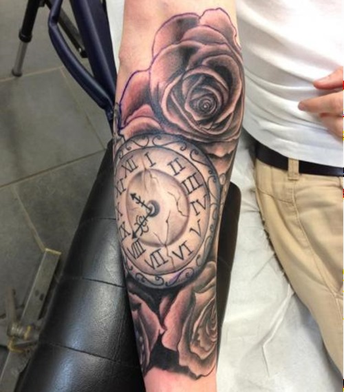 40+ Best Clock Tattoos Ideas