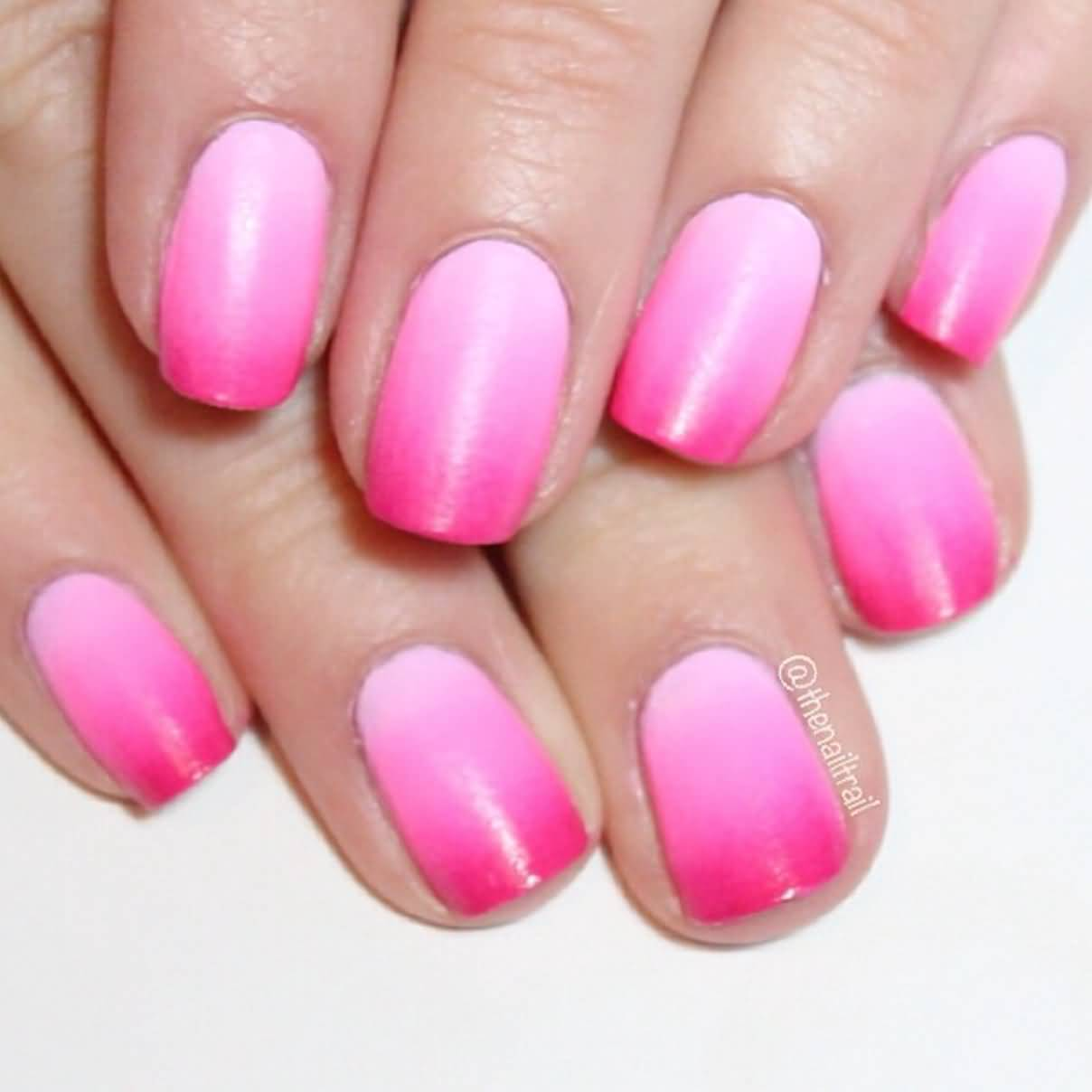 40 easy ombre nail art ideas for girls pink color ombre nail art design idea prinsesfo Gallery