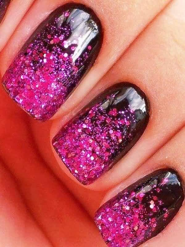 50 Most Adorable Glitter Ombre Nail Art Design Pictures And Images