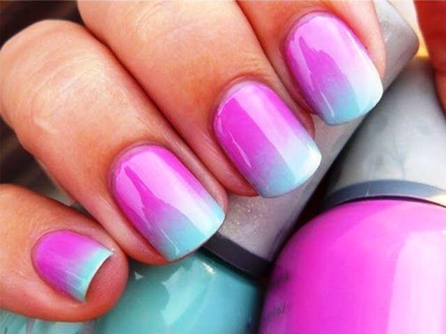 Shellac Nail Designs Blue Hireability