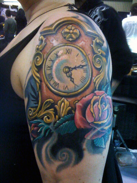 34 incredible broken clock tattoos