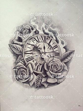 23 Latest Clock Tattoo Designs