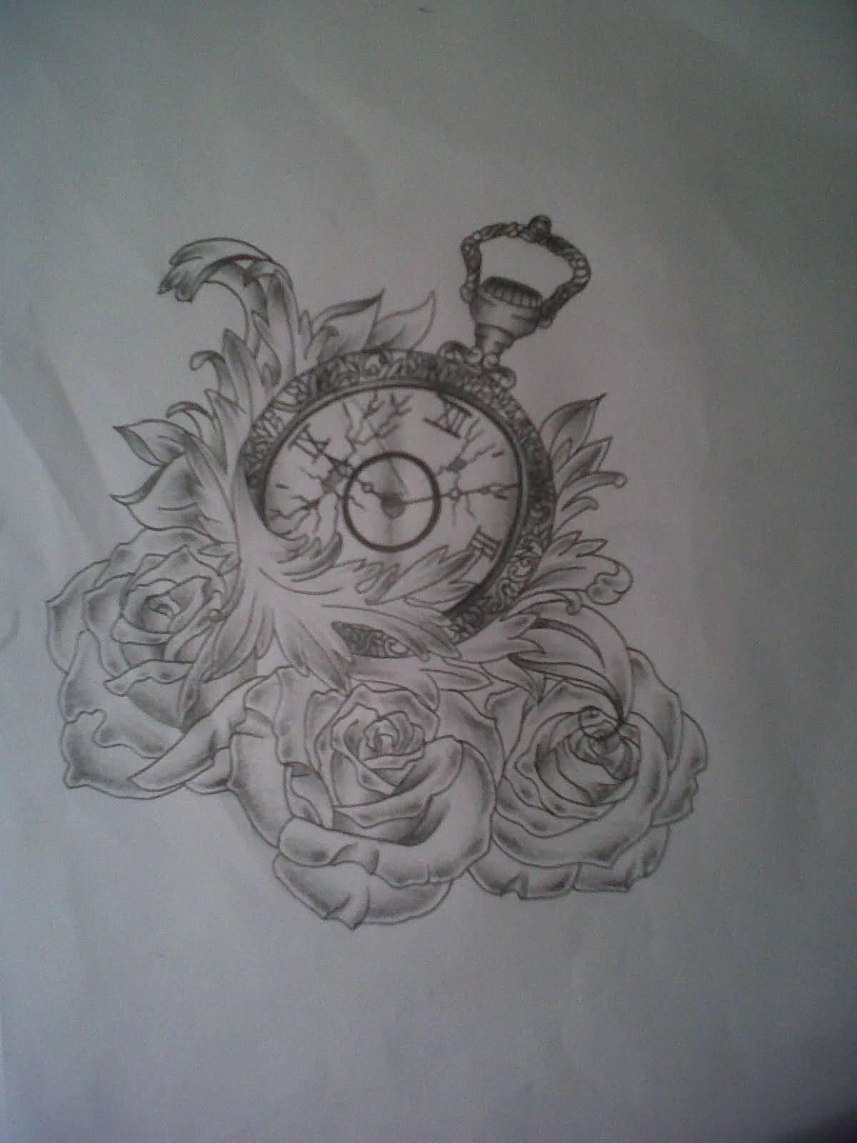 broken clock tattoo tumblr the image kid has it. Black Bedroom Furniture Sets. Home Design Ideas