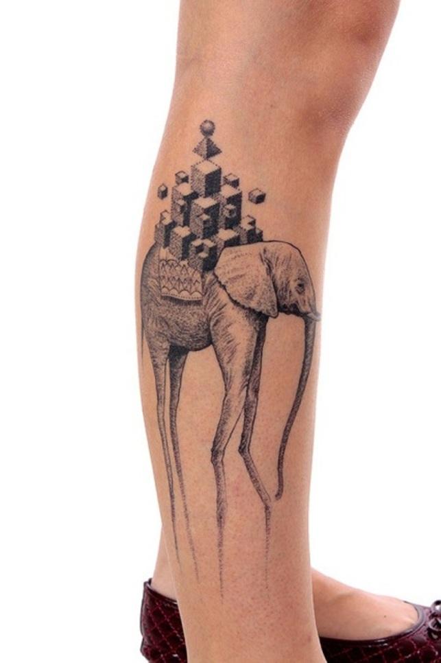 25 cool dali elephant tattoos